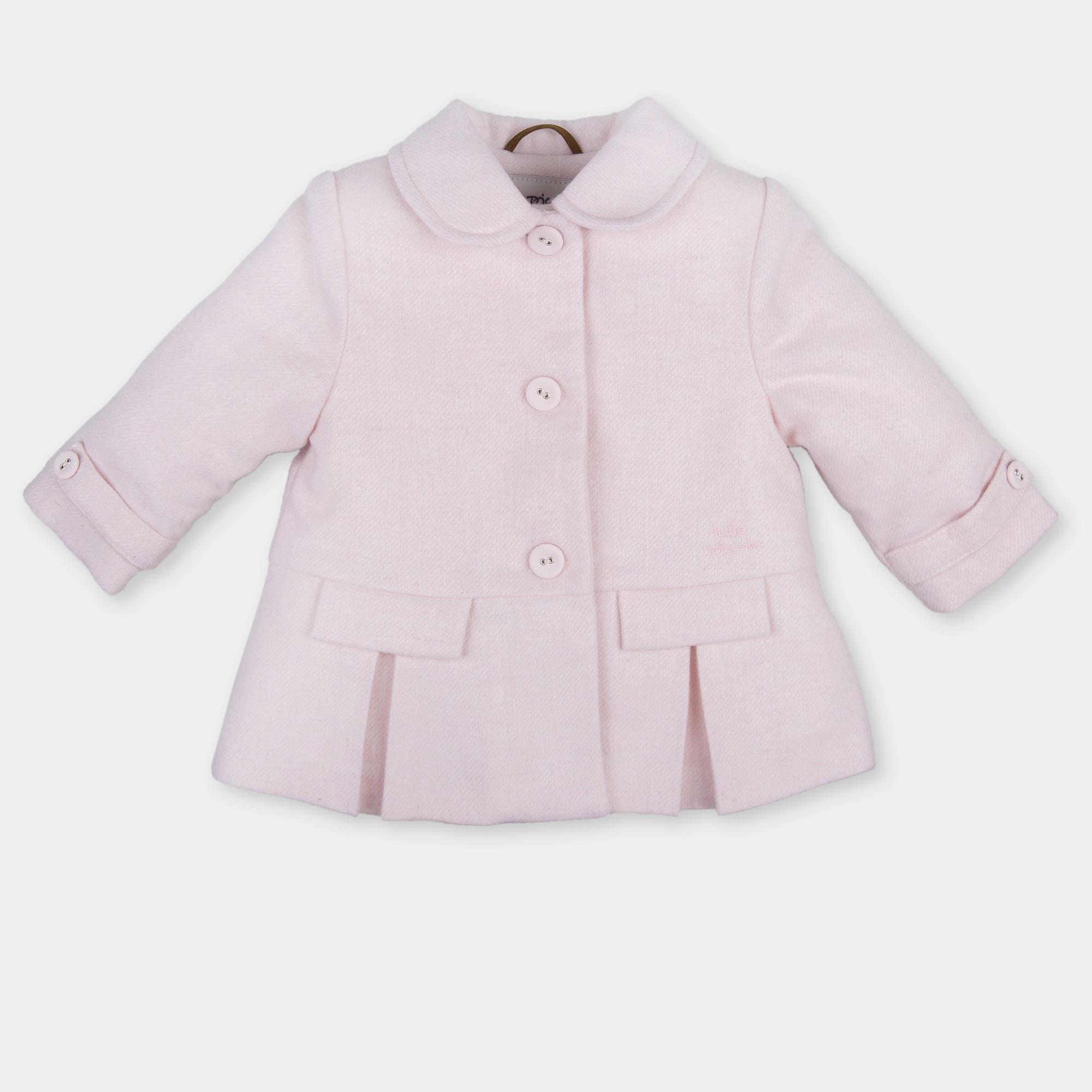a74ecc01f TUTTO PICCOLO GIRLS PINK & WHITE COAT REF.: 3517 - masielbebe.co.uk