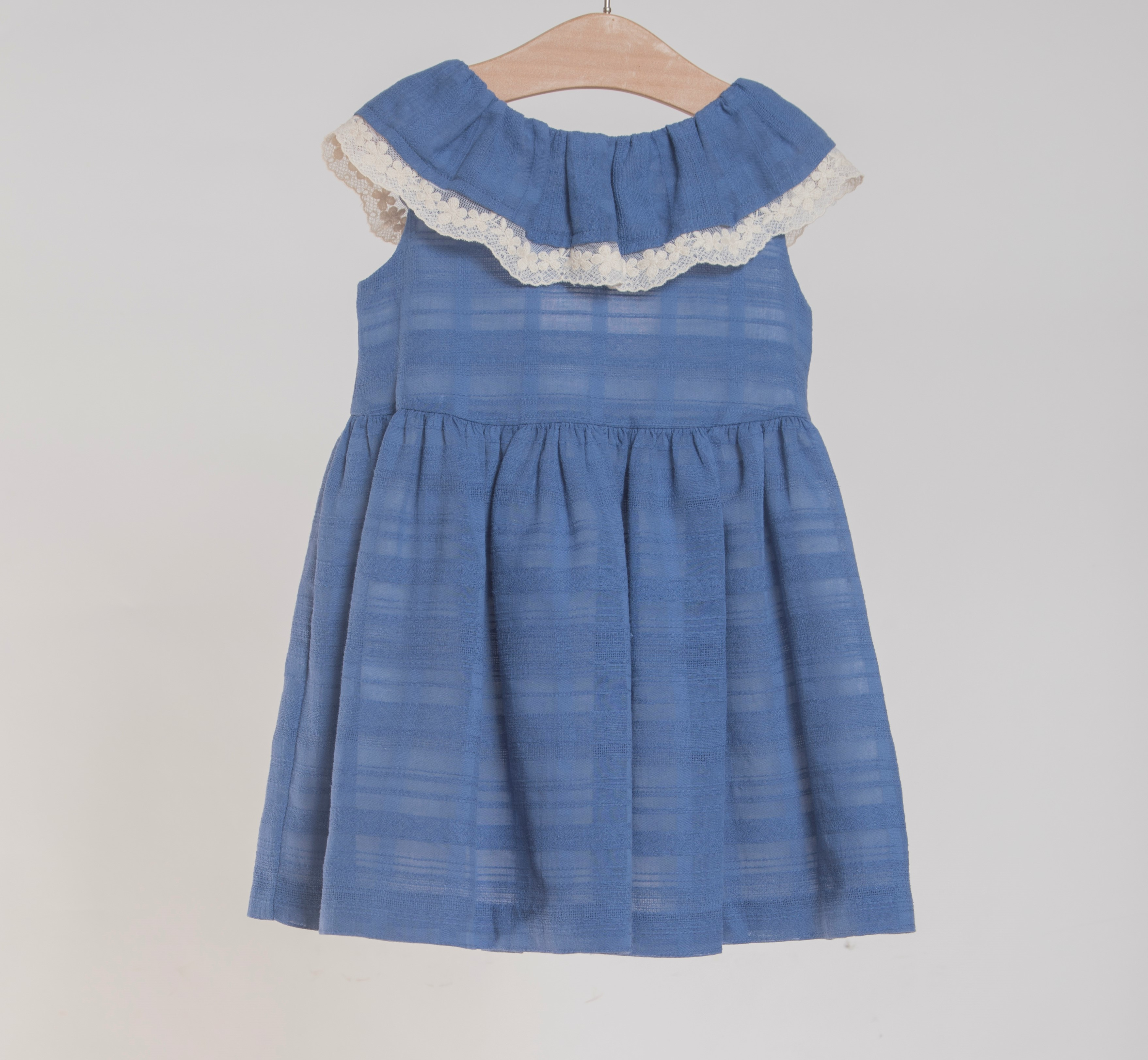 427c186bbad5 FINA EJERIQUE GIRLS ROYAL BLUE   IVORY FRILLED DRESS REF.  M2445 ...