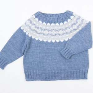 FINA EJERIQUE BOY SKY BLUE & WHITE & GREY KNITTED