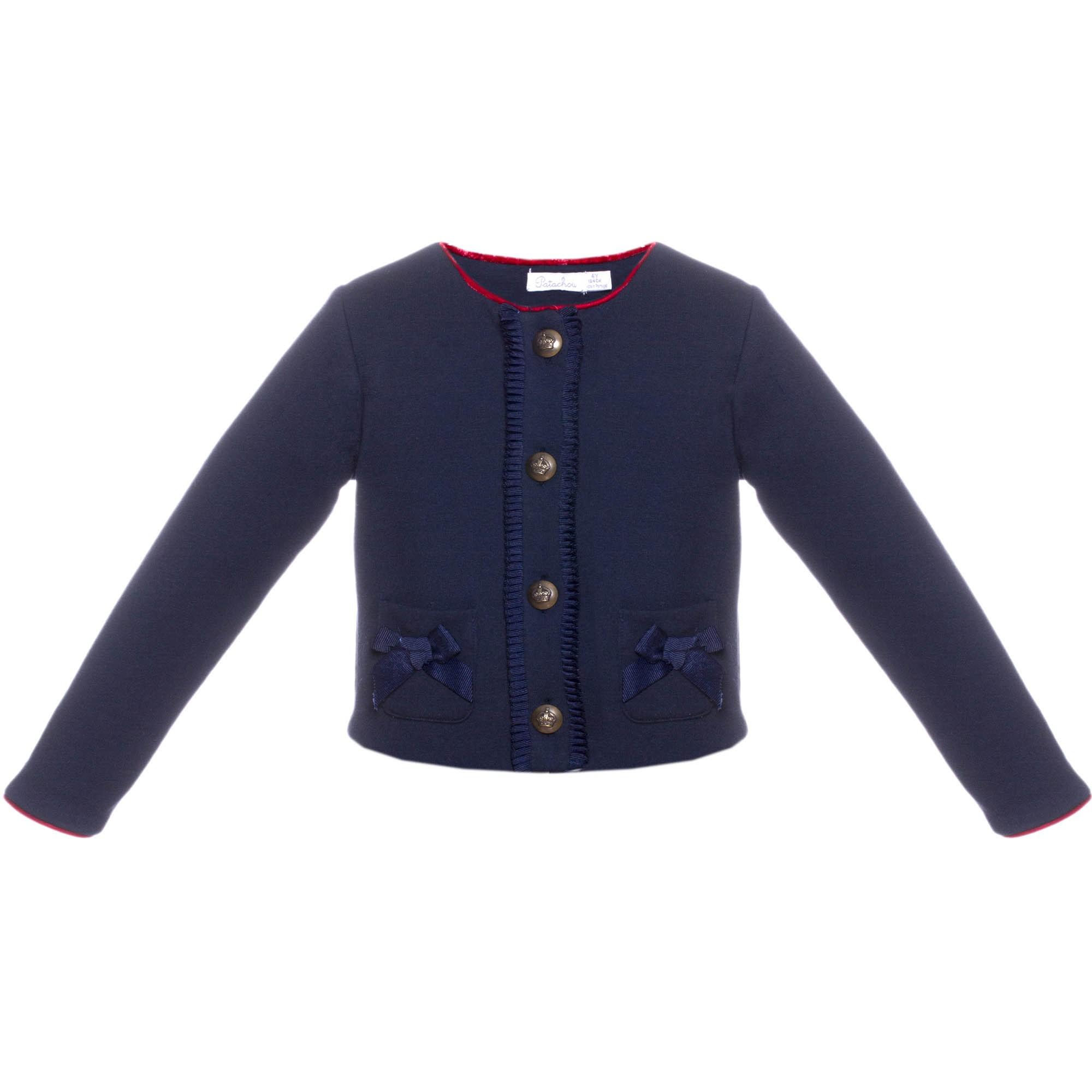 3c5050dcf PATACHOU GIRLS NAVY BLUE FRILLED JACKET REF.: 2733470 - masielbebe.co.uk