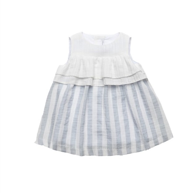 595bb688bf2d FINA EJERIQUE BABY GIRL WHITE   TURQUOISE STRIPED DRESS REF.  A1445 ...
