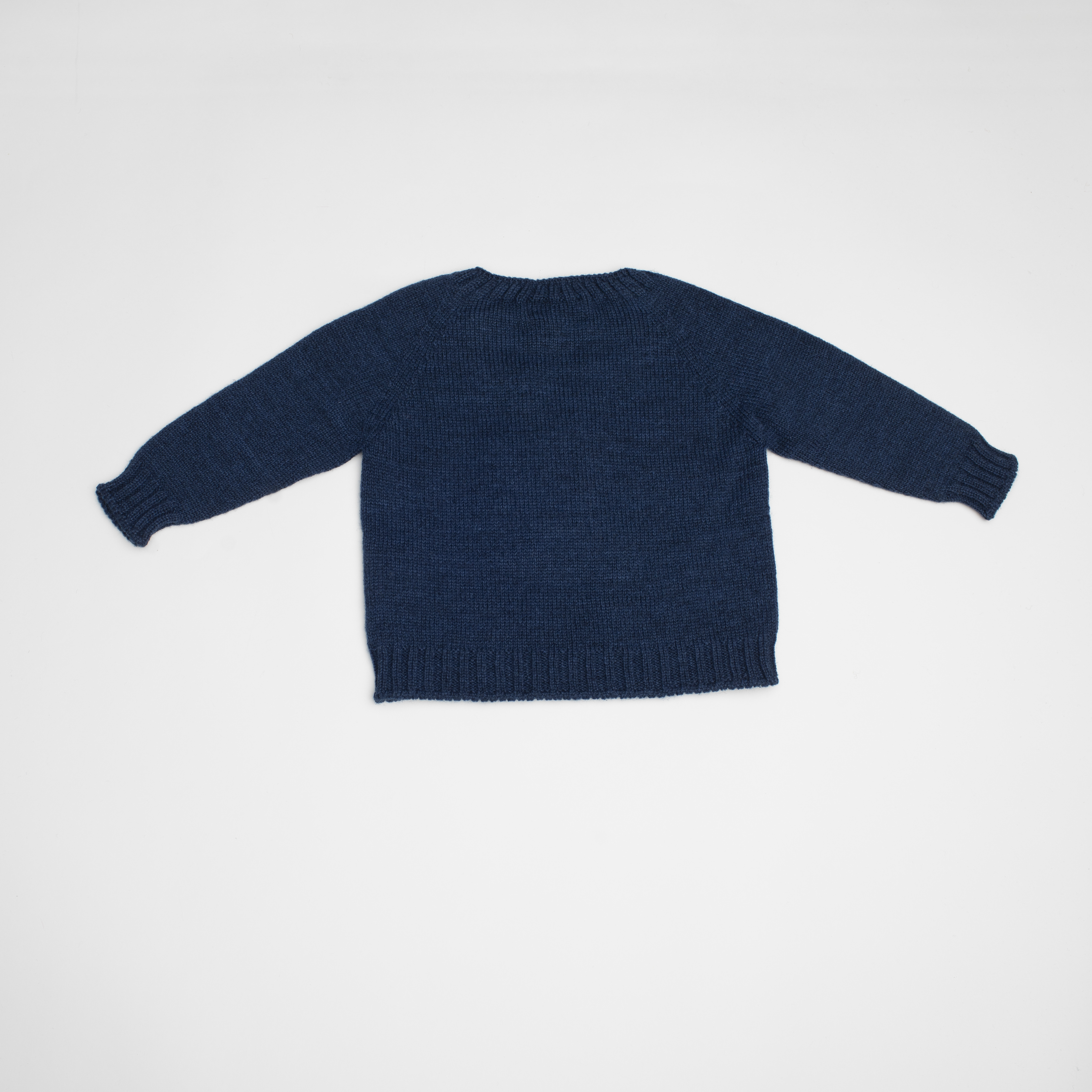 FINA EJERIQUE BABY BOYS NAVY BLUE KNITTED DOG PRINT JUMPER REF.: B35H06